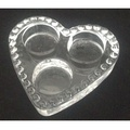 Glass Heart Shape 3 tealights