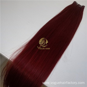 Virgin cuticle  invisible skin weft extensions