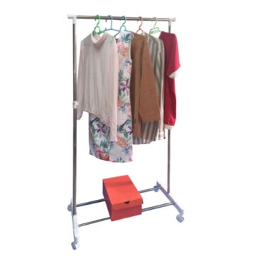 Stainless steel horizontal bar drying rack clothes airer