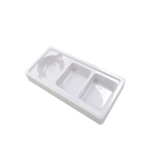 Display plastic white blister cosmetic tray