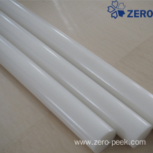 Natural color delrin rod
