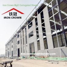 MGO Anti-corosion Fireproof Roof Tile For Workshop