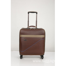 Hot selling PU colourful trolley luggage