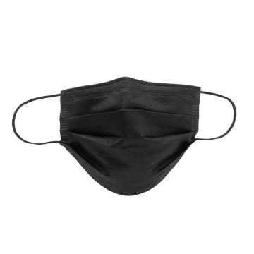 Earloop Disposable 3-Ply Soft Black Face Mask
