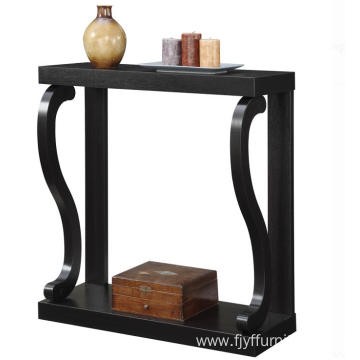 Foyer Rustic Dark Wood Console Table