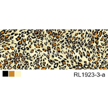 100% Polyester Woven Fabric Leopard Print Design