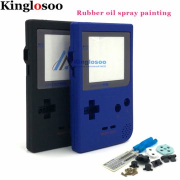 DIY Rubber oil Full Housing for Gameboy Pocket Game Console Shell Case Cover for GBP Replacement w/ Buttons Kit