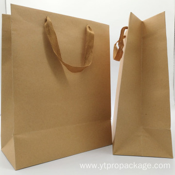 Recyclable Kraft Custom Shopping Paper Bag with handle