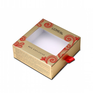 Sliding Drawer Eyelash Box With Ribbon Handle