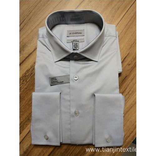 men's long sleeve shirt 97%cotton3%spandex