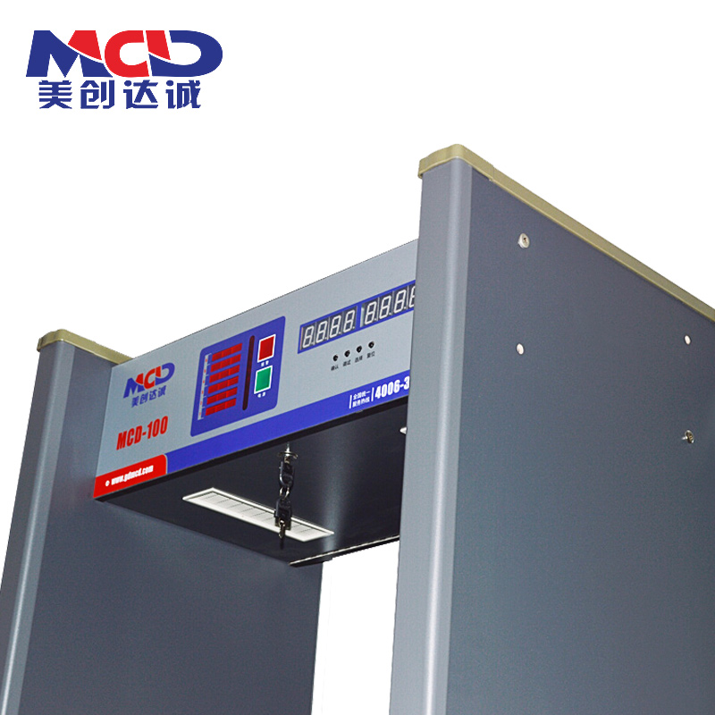 Metal detection security door