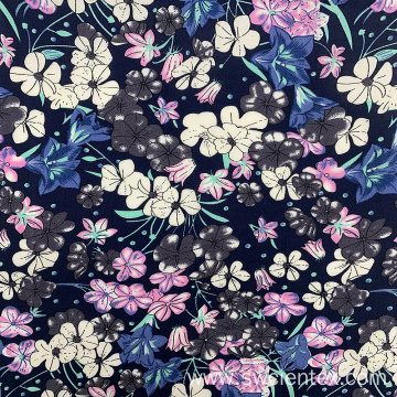 Top Material 100% Rayon Floral Printed Dresses Fabric