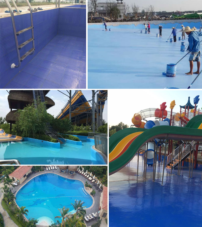 Concrete swimming pool waterproofing paint