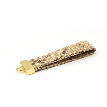 High Quality Handmade Shopping Blank leather Key Chain