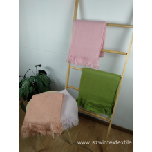 Fashion Mohair Plain Throw