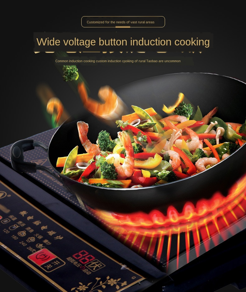 Touch control waterproof 2000W electric ceramic stove cookers mute technology upgrade section induction cooker