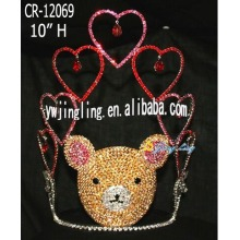 Bear Crown Heart Happy Birthday Hair Tiara