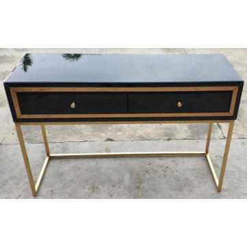 Black Gold metal leg 2 Drawe Dressing Table