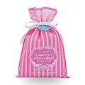 Medium Pink Christmas Non-woven Gift Bags