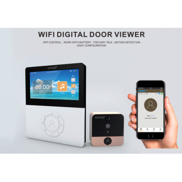 Wifi Doorbell Camera Digital Door Peephole Viewer