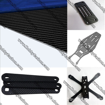 cnc cutting 3k full carbon fiber block
