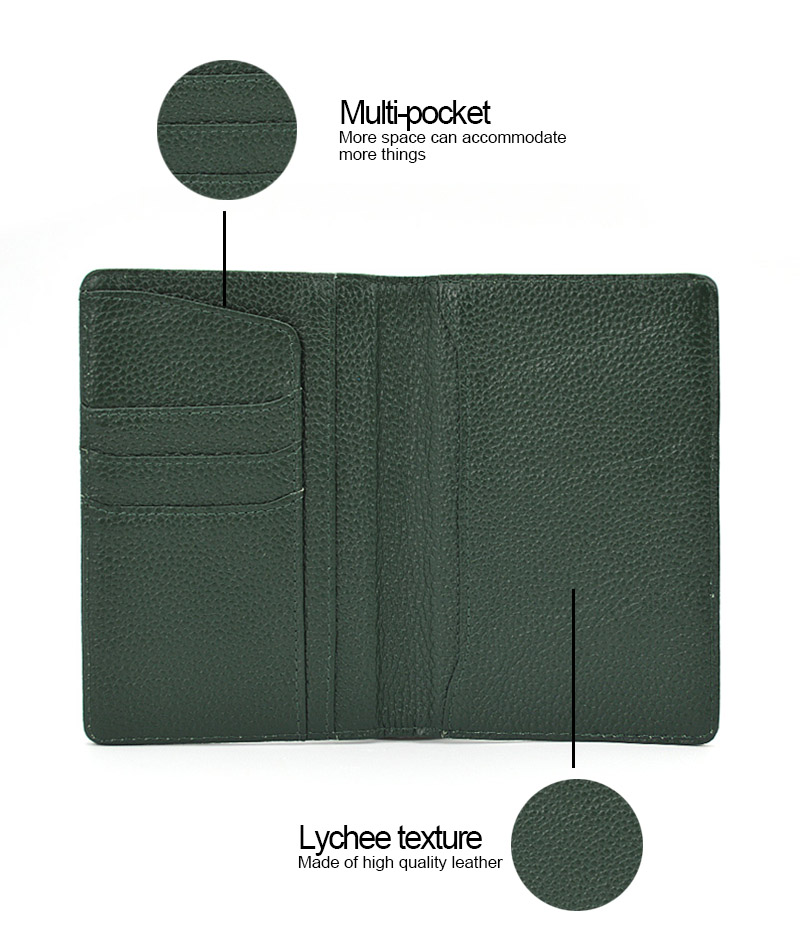 OEM Personalized Travel Leather Passport Card Holder