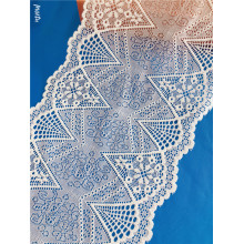 Good Quality White Scalloped Stretch Lace Border