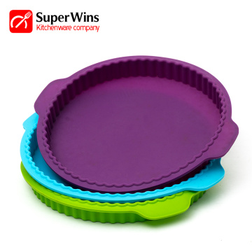 Nonstick Flexible Silicone Baking Mold Pizza Tray