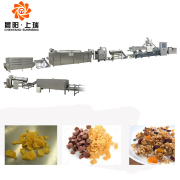 Corn flake making machine puffing breakfast cereal machine