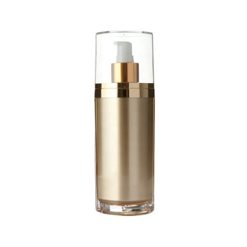 Wholesale luxurious acrylic round golden cosmetic bottle/jars with good price