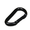 Black Steel Carabiner Snap Hook for Safety Harness OEM