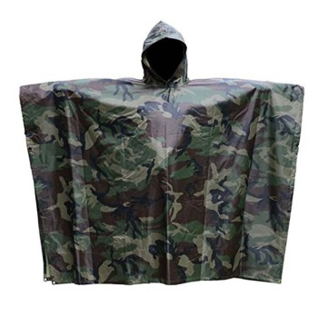 Customized Camouflage Military PVC rain poncho