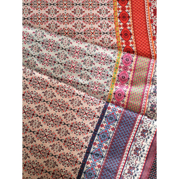 Border Design Rayon Challis 30S Printing Woven Fabric