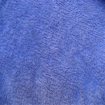 Purple dyeing Coral Velvet Fleece Fabric