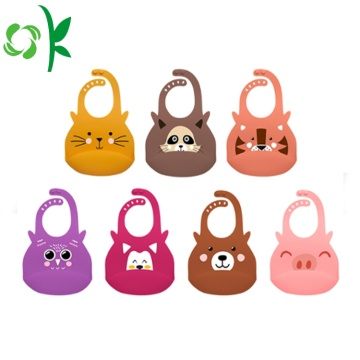 Waterproof Silicone Baby Clothes Cute Toddlers Bibs