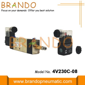 5/3 Way 4V230C-08 1/4'' AirTAC Type Valve