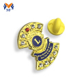Gold metal lion badge pin plating for club