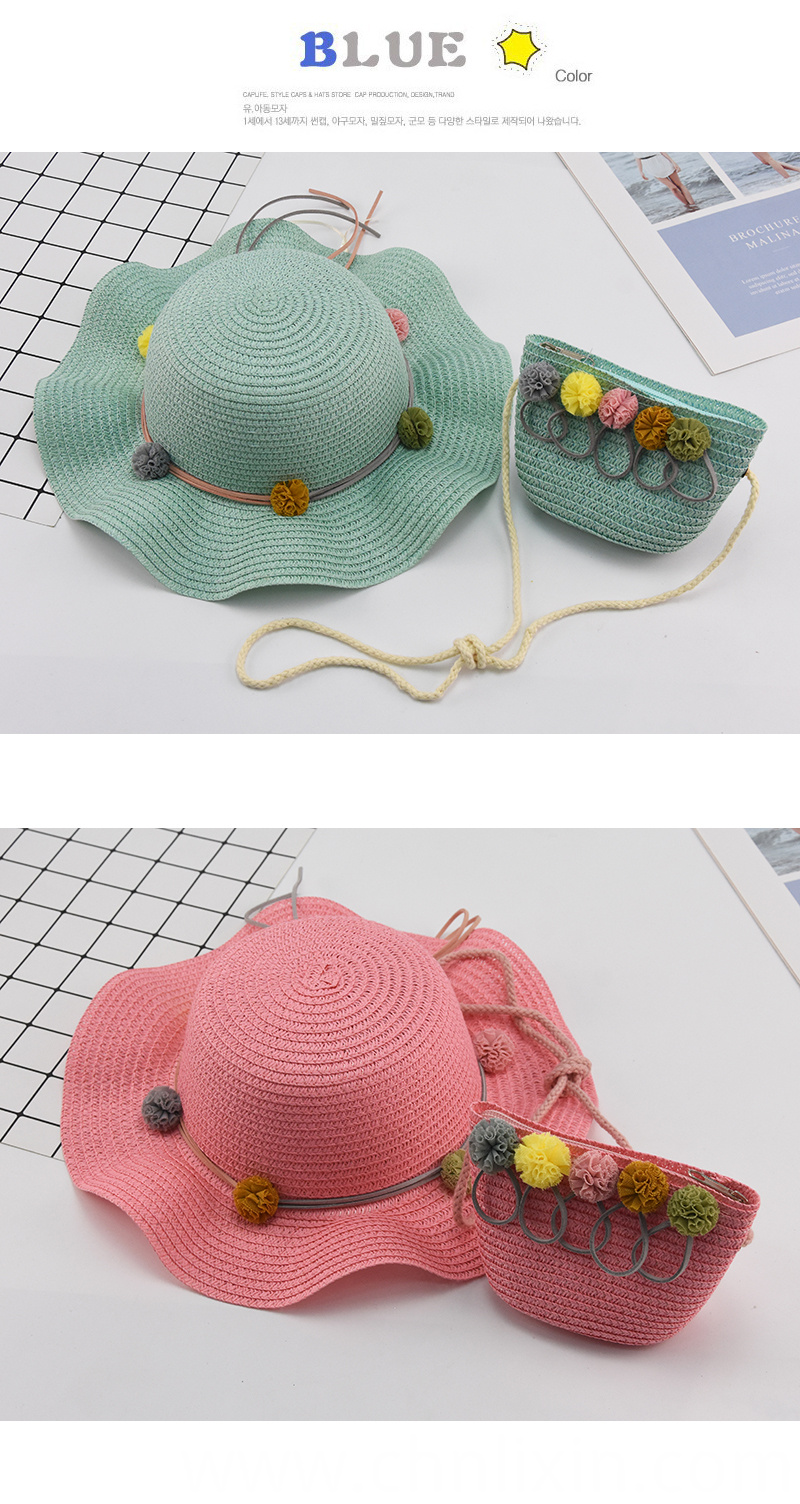 Children Summer Straw Hat Baby