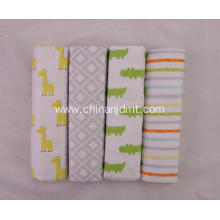 4-pack Baby Receiving Blankets Flannel