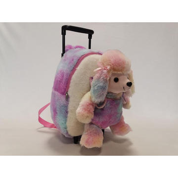 Plush Poodle Trolley Backpack