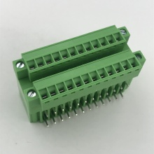 3.81mm pitch with flange double row terminal block