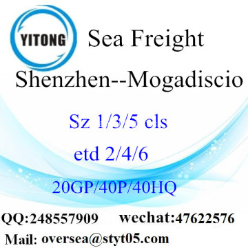 Shenzhen Port Sea Freight Shipping To Mogadiscio
