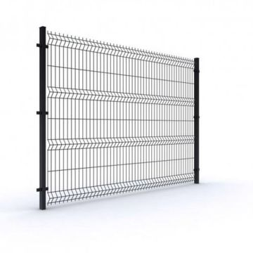 Customized size pvc coated after galvanized garden curved welded wire fence