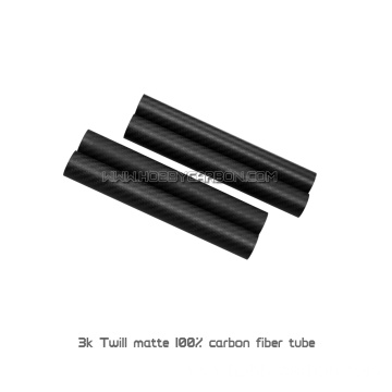 6X4mm 3K Twill Matte Round Carbon Fiber Pipe