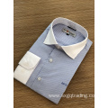 Male long sleeve 100%cotton yarn dyed stripe shirt