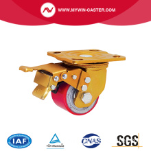 Low Center Heavy Duty Caster Top Plate With Brake