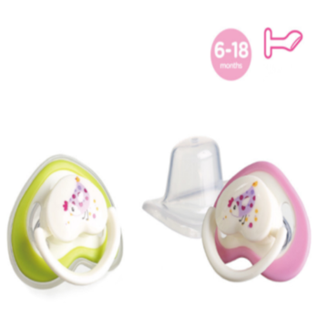 Flat Heart Shape Nipple Baby Silicone Pacifier