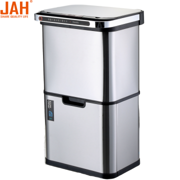JAH Large Capacity Recycling Sortable Dustbin with Ozone