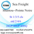 Shantou Port Sea Freight Shipping To Pointe Noire