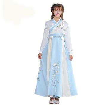 The New Hanfu Mulheres Women Plum Hanfu Costume Dress Fairy Skirt Fresh and Elegant Huaqing Pavilion Hanfu Clothing Chines Style